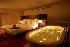Home Design Ideas, Unbelievable Simple Romantic Bedroom Ideas For Valentines Day Tube Inside Classic Bed Pillow Lamp White Pool Decoration: romantic bedroom ideas for valentines day decoration Space Saving Bathroom, Hotels In Turkey, Casa Clean, Romantic Surprise, Romantic Room, Romantic Night, Romantic Bedrooms, Romantic Ideas, Amazing Bedrooms