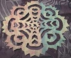 "Polish Gwiazdy | Gwiazdy means ""stars"" in Polish. This paper cutting craft typically has geometric designs and is from the Kurpie and Lowicz regions of Poland."
