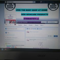 View my Facebook and become one of my Body Shop consultants. My number 07508407974 or patriciacodner@hotmail.com speed the word ☺//dm me