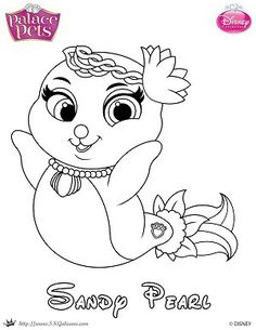 free princess palace pets coloring page of sandy pearl - Disney Palace Pets Coloring Pages