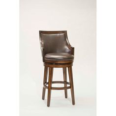 Hillsdale Furniture Lyman Rustic Oak Upholstered 30.5inch Back Wood Swivel…