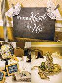 muggles sign for a harry potter bridal shower