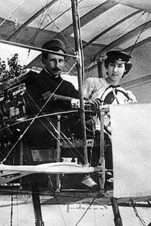 September in France, Thérèse Peltier first woman in the world to solo an aircraft, is shown here with fellow sculptor, aviator and aircraft owner, Leon Delagrange Private Pilot, Vintage Air, Fighter Pilot, Ferdinand, Sky High, Wwi, Aircraft, History, Distance