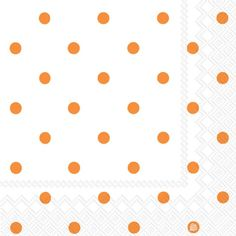 Dainty Dots Soft Orange Beverage Napkins, also available in green or in reversed color pattern