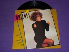 "Whitney Houston Where Do Broken Hearts Go Rare 7"" 45 RPM Vinyl & Picture Sleeve"
