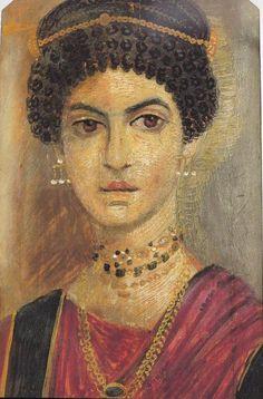 Portraits du Fayoum, jeune femme élégante