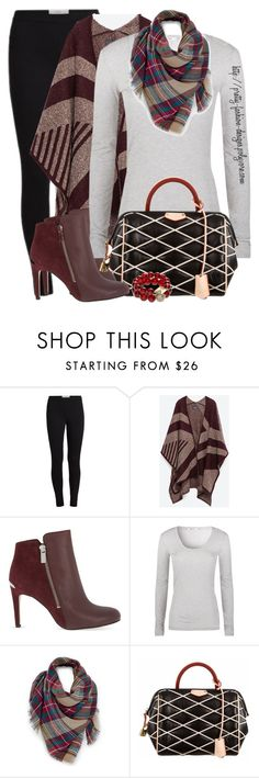 """""""~  Ankle Boots & Poncho  ~"""" by pretty-fashion-designs ❤ liked on Polyvore featuring Zara, MICHAEL Michael Kors, T By Alexander Wang, Venus, Louis Vuitton and T+C by Theodora & Callum"""