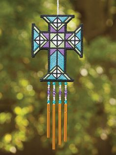 Let's Make some wind chimes in plastic canvas patterns for wind chimes