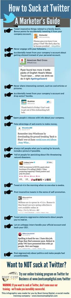 How to Suck at Twitter - A Marketer's Guide [Infographic]