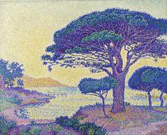 Pins parasols des Canoubiers, Paul Signac.