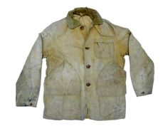 This appears to be a men's denim workwear jacket from the 1940s however the pockets look like something from a hunting jacket. Hard to tell.