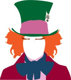 """A """"minimalistic"""" take on the Mad Hatter from Tim Burton's Alice in Wonderland. I'm posting some stuff I did this semester since my main computer needs s. Cute Disney, Disney Art, Mad Hatter Drawing, Alice In Wonderland Drawings, Disney Minimalist, Disney Canvas, Posca Art, Disney Posters, Aesthetic Stickers"""