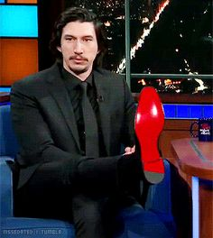 "mssedated: ""Adam Driver + This is getting awkward so let's go back to looking at the bottom of my shoe. """