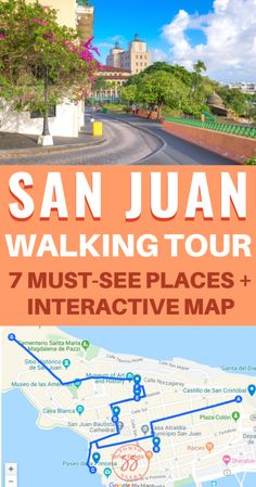 A Self-Guided Walking Tour of Old San Juan Planning to visit San Juan, Puerto Rico? This self-guided walking tour will show you the best places to visit in Old San Juan. Discover great restaurants, amazing spots for pictures, Spanish fortresses, and Cruise Port, Cruise Travel, Cruise Vacation, Vacation Destinations, Dream Vacations, Puerto Rico Trip, San Juan Puerto Rico, Cool Places To Visit, Places To Travel