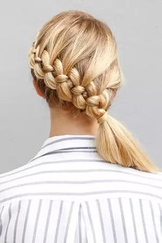 If you've mastered the French, Dutch, and fishtail braids, the four-strand braid should be the next on your list. It may look complicated, but it's not as hard as it appears. Whether you practice on a friend or on yourself, this cool plait is worth the extra effort.