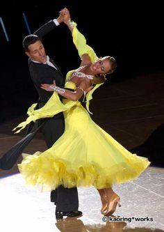 Gorgeous yellow ballroom dress. #dancesport #dance #ballroom