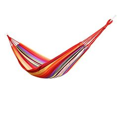 Ducklingup Hammock Cotton Fabric Travel Camping Hammock Outdoor Leisure Travel Bed Lightweight Hammock For Indoor Camping Hiking Backpacking Backyard Red *** See this great product.(This is an Amazon affiliate link)