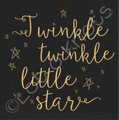 Twinkle Twinkle Little Star svg dxf jpg & pdf files by LotOKnots