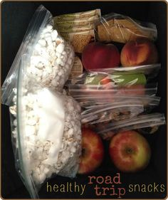 healthy road trip snacks - great list of snacks to keep you eating healthy on the road.