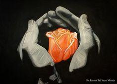 Orange rose drawing.  #victoriassecret  #sullen #sullenclothing #worldofpencils #ink #photorealism #art #artwork #davidgarcia #maybeline #rosetattoo #finelineblackandgrey #blackandgrey #roses #nika #roman #rose #kristinawebb #holding #ny #nyc #westcoast #cali #calilife #nikkohurtado #hands #emma #flower #drawing