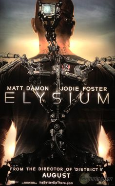 First Look at the Poster for Elysium, Starring Matt Damon and Jodie Foster