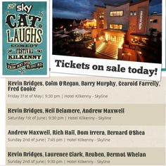 Kilkenny Cat Laughs Comedy Festival June Bank Holiday weekend
