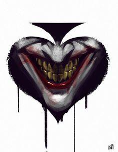 The Joker tattoo idea. Joker Pics, Joker Art, Joker Comic, S Tattoo, Ak47 Tattoo, Comic Books Art, Comic Art, Joker Kunst, Joker Y Harley Quinn