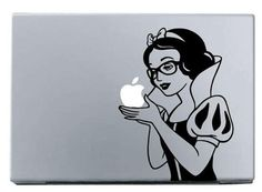 sbow white wear glasses headphone macbook decal sticker ipad decal mac decals macbook /pro/air laptop decal