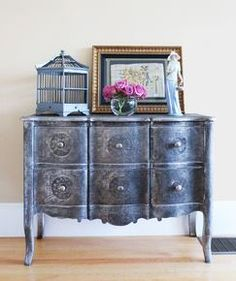 A whimsical and graceful chest in an elegant parlor.