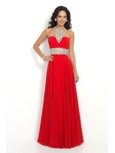 A-line Halter Floor-length Chiffon Prom Dresses/Evening Dresses #QA697
