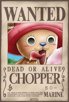 Poster One Piece Wanted Chopper (52X35)