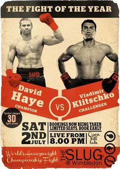 Boxing Haye - Klitschko 12011 by Axel Haudiquet, via Behance