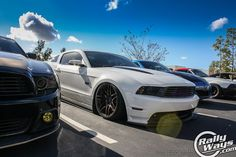 Slammed Mustang 5.0 at the Tacos & Tuners / Cali Wraps meet. Dec 2014. #rallyways #tacosandtuners #slammed