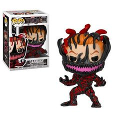 Marvel Venom It's safe to say the universe will never be the same. The Marvel Venom Carnage Cletus Kasady Pop! Vinyl Figure measures approximately 3 tall and comes packaged in a window display box. Funko Pop Marvel, Venom Funko Pop, Marvel Pop Vinyl, Toy Pop, Pop Toys, Pop Vinyl Figures, Hot Topic, Univers Marvel, Captain America