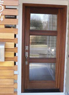 Modern Doors   Wood And Glass Entry Door