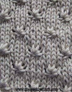 Knot Stitch - Just the right amount of texture for a stockinette field.
