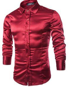 purple shiny formal shirts for men - Google Search www.aliexpress.com