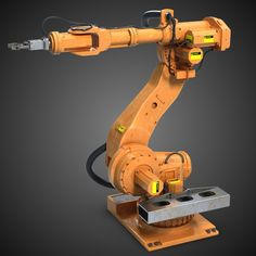 Industrial Robot Arm by ognog Industrial Robot Arm model. Originally created with Max This model is suitable for use in broadcast, high-res film clo Industrial Robotic Arm, Industrial Robots, Robot Design, Game Design, Robotic Automation, Cad Cam, Engineering Projects, Robot Arm, 3d Assets