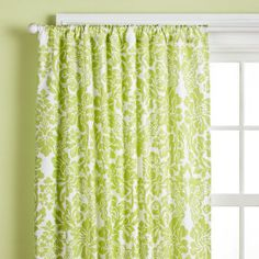 Green and White Curtains????