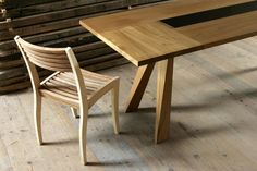 While visiting Samedan and St. Moritz friends of us told us about Ramon Zangger , a woodatelier who is also responsible woodwork in N. Cool Chairs, Wishbone Chair, Dining Chairs, Woodworking, Cool Stuff, Switzerland, Tables, Furniture, Home Decor