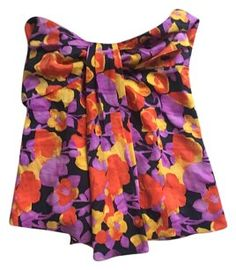 Moda International Top Black, purple, yellow and orange