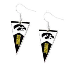 Iowa Hawkeyes Women's Pennant Dangle Earrings