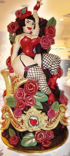 Burlesque Cake, most definitely classes as Art!  by Choccywoccydoodah