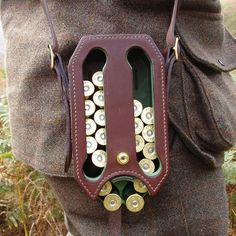 The Loadmaster from Oliver Brown is an effective way to pack around your shotgun shells on your hip. The shells stack nicely and drop down to a gate allowing you to reload quickly. The Loadmaster will hold 28 x 12 gauge shells or up to 34 x 20 gauge shells with the included spacer in place. It's designed to work with all lengths of shotgun shells. Pick yours up by clicking the link below (tweed suit sold separately).