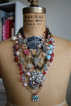 Pretty Vintage upcycled jewelry