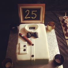 Mad Men Theme Birthday Cake @Mariana Lafrance Ontiveros @Yesenia Perez-Cruz Padilla