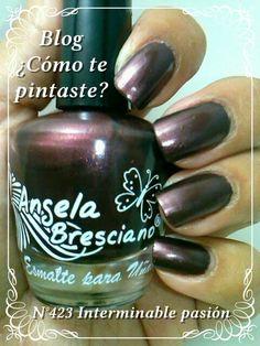 Colección Otoño-Invierno Angela Bresciano #swatches #nails #uñas #comotepintaste #esmaltes #polish #bordo #bordeaux #angelabresciano