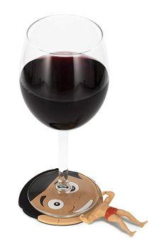 0fbcea92c Amazon.com: NPW-USA The Original Drinking Buddies, Flat Chad Drink Coasters