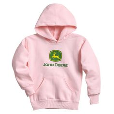 John Deere Pink Ladies Trademark Logo Hoodie – GreenToys4u.com