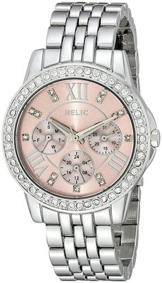online shopping for Relic Fossil Women's Layla Quartz Metal Dress Watch from top store. See new offer for Relic Fossil Women's Layla Quartz Metal Dress Watch Relic Watches, Cool Watches, Stainless Steel Bracelet, Stainless Steel Case, Quartz Watch, Gold Watch, Fossil, Track, Mineral